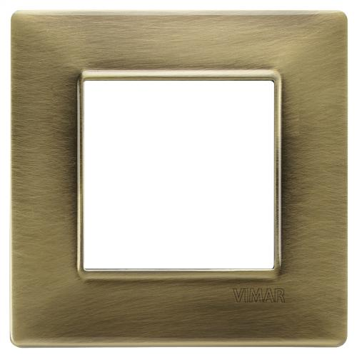 VIMAR - 14642.76 - Plate 2M metal antique brass
