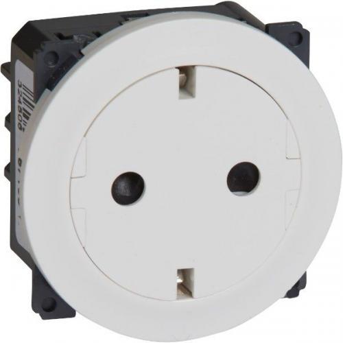 LEGRAND - Плосък контакт механизъм и плочка с автоматични клеми Celiane 67166 бял
