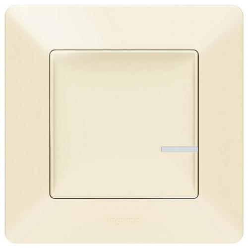 LEGRAND - Свързан ключ/димер 300W с компенсатор жичен Netatmo 752284 Valena Life крем