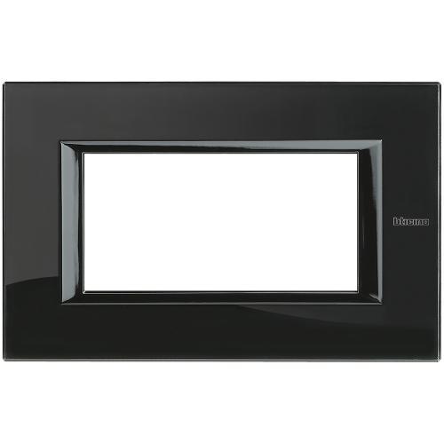 BTICINO - HA4804VNB Рамка 4М Nighter стъкло правоъгълна Axolute
