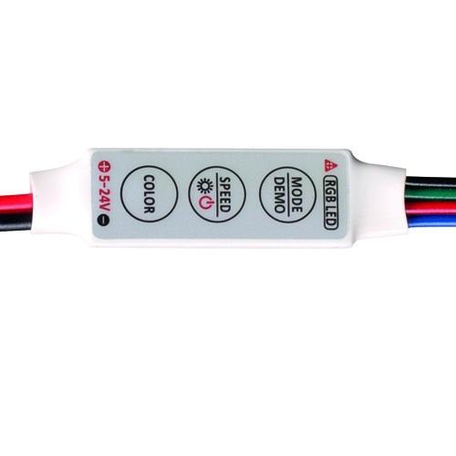 ULTRALUX - RGBCM МИНИ КОНТРОЛЕР ЗА RGB LED ЛЕНТА, 6A, 5-24V DC, 72W