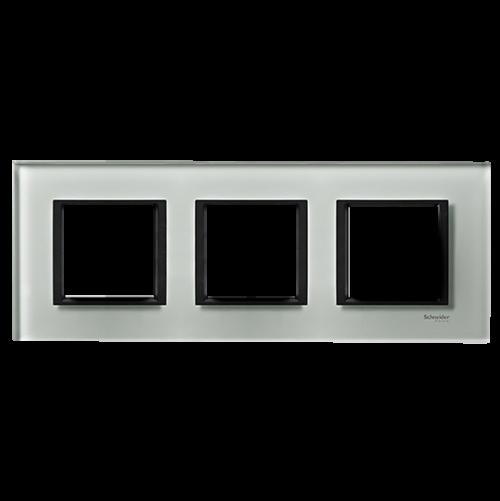 SCHNEIDER ELECTRIC - MGU68.006.7C3 декоративна рамка тройна кристално сиво Unica Class