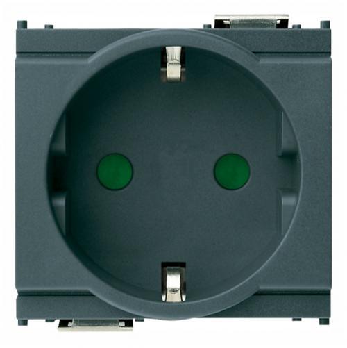 VIMAR - 16208 - 2P+E 16A контакт немски стандарт сив IDEA