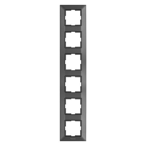 PANASONIC - Рамка шесторна вертикална тъмносиво PANASONIC Arkedia slim WNTF0816-2DG