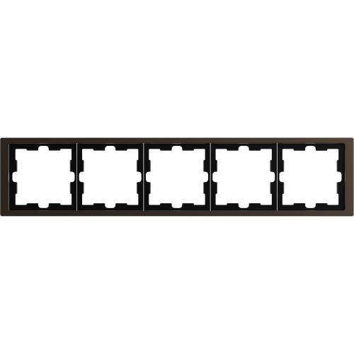SCHNEIDER ELECTRIC - MTN4050-6552 рамка петорна метална мока D-Life Merten