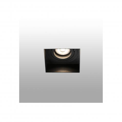 FARO - HYDE Black orientable square recessed lamp without frame Ref.40113