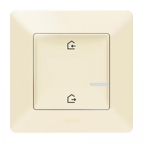 LEGRAND - Сценариен ключ безжичен излизам/прибирам се Netatmo 752286 Valena Life крем