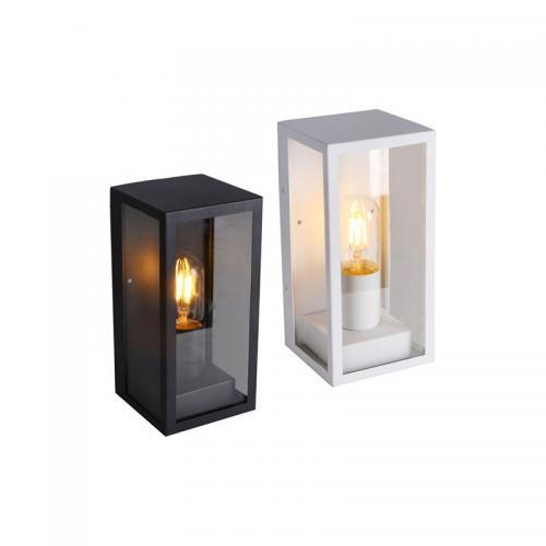 V-TAC -  Градински Стенна Лампа 1*27 Бяла Прозрачна SKU: 8518 VT-837