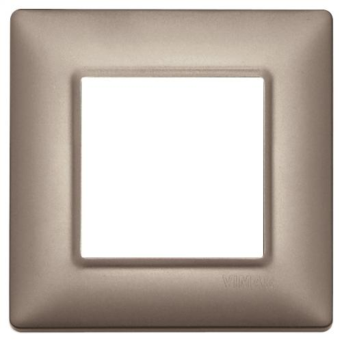 VIMAR - 14642.74 - Plate 2M metal pearl nickel