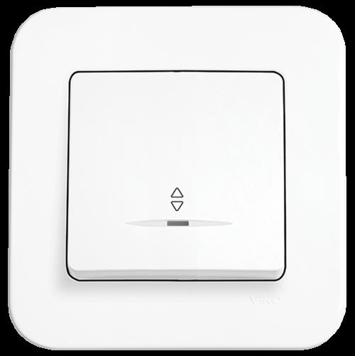 VIKO - Two-way Switch, Illuminated 90420063 white Rollina
