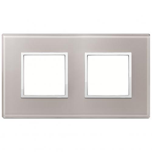 VIMAR - 21643.73 Двойна рамка crystal pearl grey