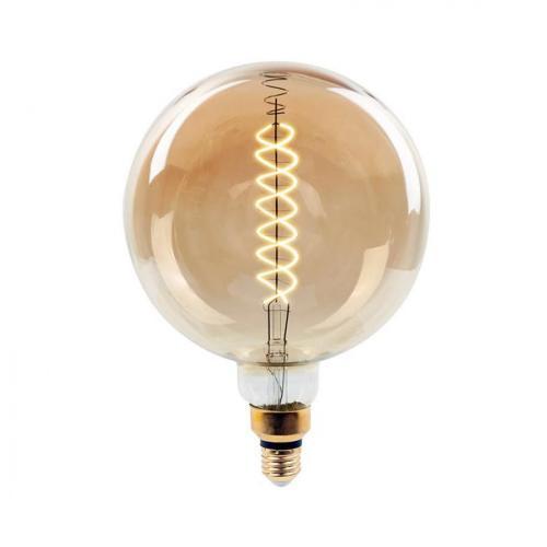 V-TAC - LED Крушка 8W Filament E27 G200 Димираща 2000К SKU: 7462 VT-2158D