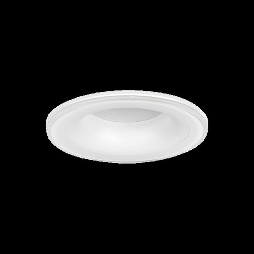 ULTRALUX - LVSBRMR16WH Луна за вграждане влагозащитена кръг, стационарна, бяла, IP44