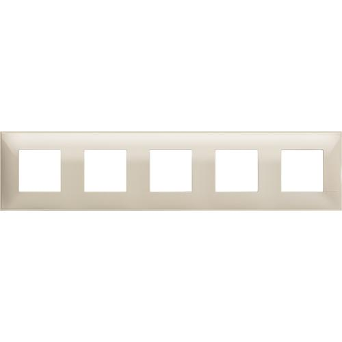 BTICINO - R4802M5CR cover plate - 2+2+2+2+2 horizontal/vertical installation modules - Cream