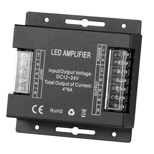 ULTRALUX - RGBWAMP32A Усилвател за RGBW LED лента, 4x8A, 384W (12V), 12-24V DC