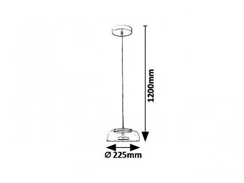 RABALUX - Пендел  LORELL  5391 LED 8W, 640lm, 3000K