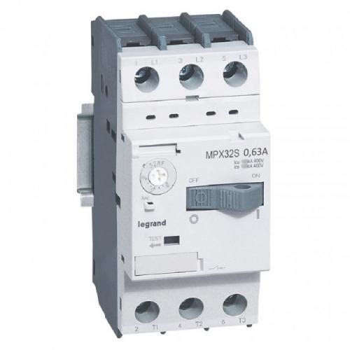 LEGRAND - Моторна защита 3P 0.4-0.63A тип MPX3 32S 417303