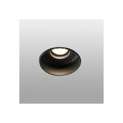 FARO - HYDE Black orientable round recessed lamp without frame Ref.40111