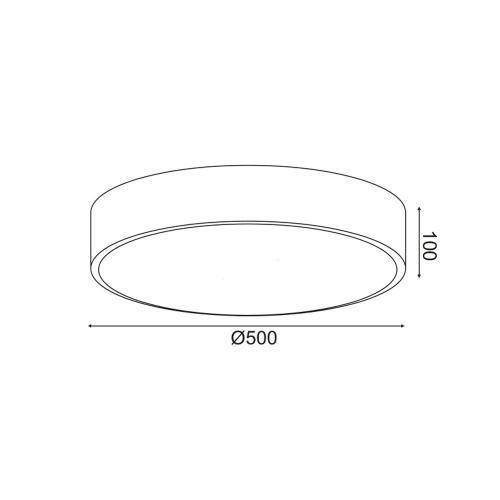 ACA LIGHTING - LED Плафон  V29LEDC50BK