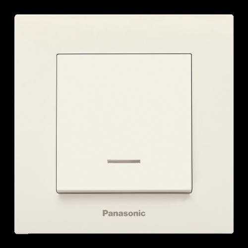 PANASONIC - Ключ бойлерен 16A светещ Panasonic Kare крем WKTC00442BG