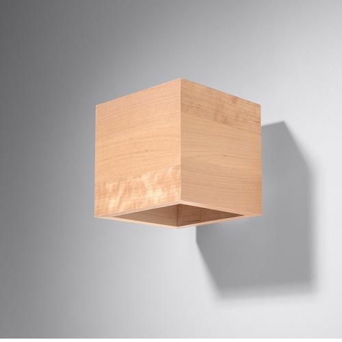 SOLLUX - Дървен аплик QUAD wood SL.0491