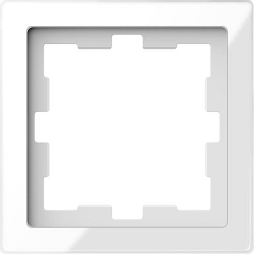 SCHNEIDER ELECTRIC - MTN4010-6520 рамка единична стъклена кристално бяло D-Life glass Merten