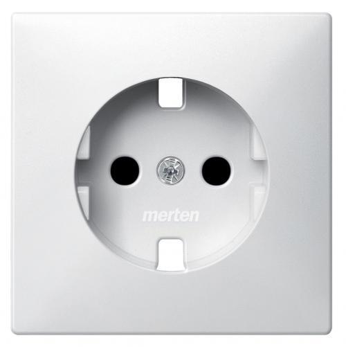 SCHNEIDER ELECTRIC - MTN2330-4019 Лицев панел за контакт шуко с полярно бял Artec и Antique