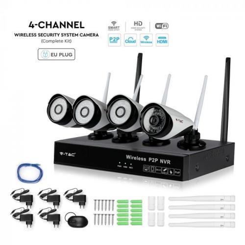 V-TAC - WIFI IP Камера NVR Камера 1080P СЕТ IP20 SKU: 8400 VT-5188