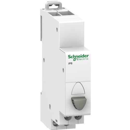 SCHNEIDER ELECTRIC - Модулен бутон единичен Acti 9 iPB 1NC сив A9E18030