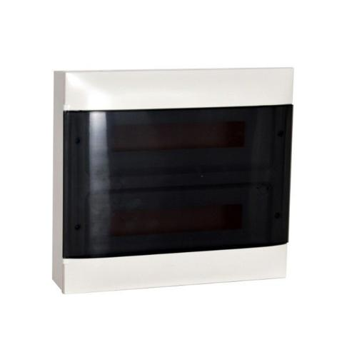 LEGRAND - Табло за открит монтаж 2x18 мод. Practibox S с прозрачна врата и Н и РЕ клеми 137217