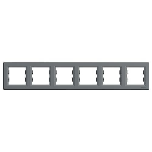 SCHNEIDER ELECTRIC - EPH5800662 Декоративна Рамка Шесторна Asfora Стомана
