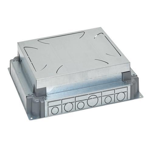 LEGRAND - Конзола за замазка от 65-90мм МЕТАЛНА за подова кутия 18 мод. хоризонтална, 12 мод. вертикална 88091
