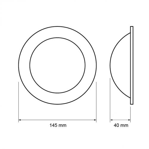 ULTRALUX - ILDR1242 LED ЛУНА С ИНДИРЕКТНА СВЕТЛИНА КРЪГ 12W, 4200K, 220V, НЕУТРАЛНА СВЕТЛИНА