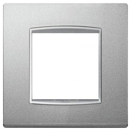 VIMAR - 20642.N1 - Двумодулна рамка Classic Bright matt silver