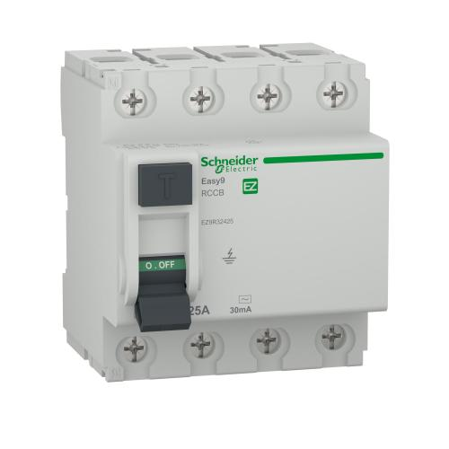 SCHNEIDER ELECTRIC - Дефектнотокова защита Easy 9 4P 25A 30mA клас AC EZ9R32425