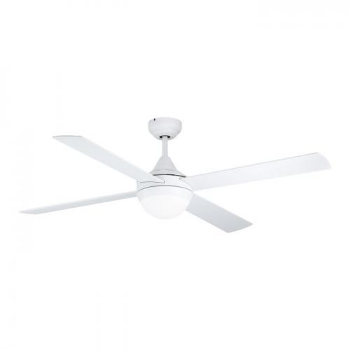 EGLO - Вентилатор със осветление AC 55W Ø1220/392+E27 бяла осн./бяло/дъб с дист. VARADERO 35082