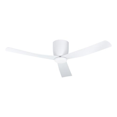 EGLO - Вентилатор със осветление DC 30W Ø1320/242+LED CCT 1х12W 1600lm TW бяла осн./бяло с дист. LERICI 35087