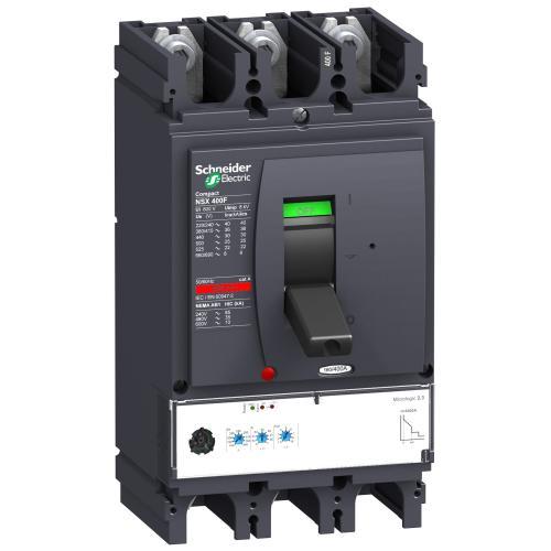 SCHNEIDER ELECTRIC - Автомат ComPact NSX400N 3P 400А Micrologic 2.3 50kA регулируем LV432693
