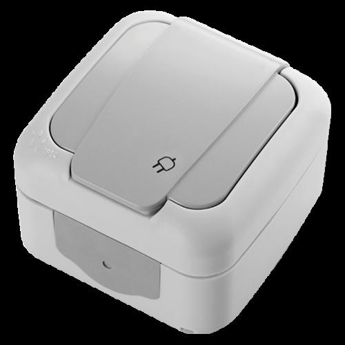 VIKO - контакт шуко Palmiye IP54 сив влагозащитен