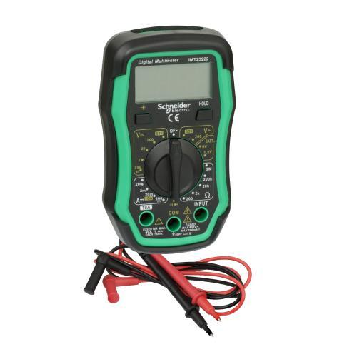 SCHNEIDER ELECTRIC - IMT23222 Дигиталнен мултицет измерва DC 200mV-600V, AC 200-600V, 200Ohm с подсветка кат.III до 600V Thorsman