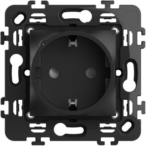 BTICINO - RG4141AC Контакт шуко 16A Smart с 2 мод. носеща рамка цвят Черен Classia Bticino с Netatmo