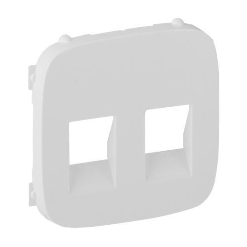 LEGRAND - 755375 Лицев панел за двойна розетка за тонколони Valena Allure бял