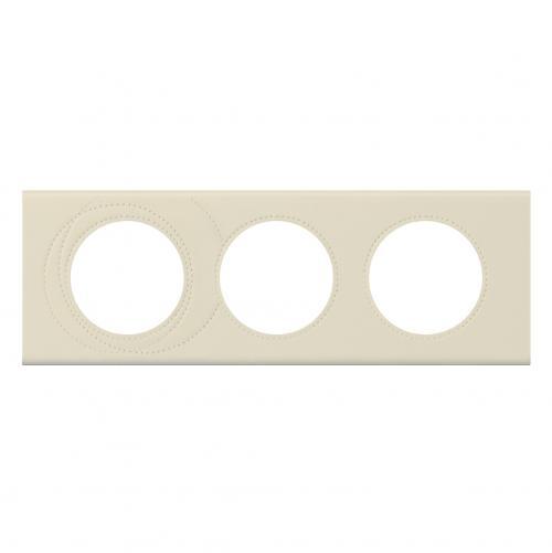 LEGRAND - Тройна рамка Celiane 69433 перлена кожа