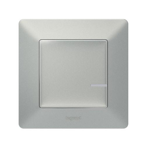LEGRAND - Свързан ключ/димер 300W с компенсатор жичен Netatmo 752384 Valena Life алуминий