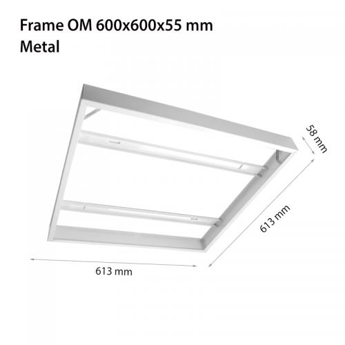 2R - Метална рамка за открит монтаж на панел 600х600