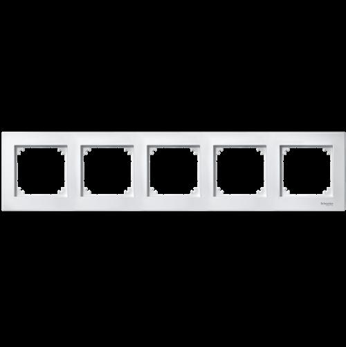 SCHNEIDER ELECTRIC - MTN515525 рамка петорна активно бяла M-Plan Merten
