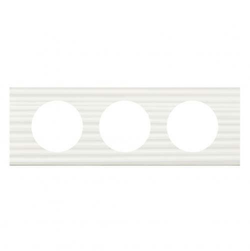 LEGRAND - Тройна рамка Celiane 69013 бял corian