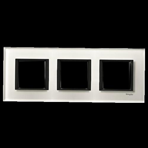 SCHNEIDER ELECTRIC - MGU68.006.7C2 декоративна рамка тройна кристално бяло Unica Class