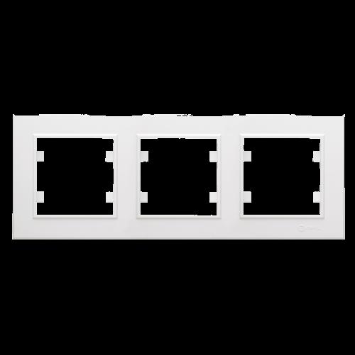 MAKEL - Тройна хоризонтална рамка Karea бяло 56001703