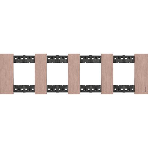 BTICINO - Рамка 4x2 мод. немски стандарт цвят Мед Living Now Bticino KA4802M4ZM